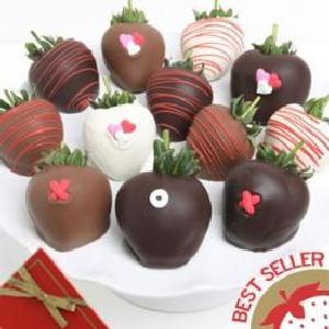 12 V'day Xox Chocolate Covered Berries