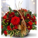 A Gorgeous Ruby Red Festive Basket