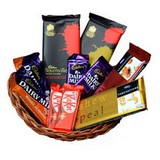 Basket Of Assorted Chocolates Treat