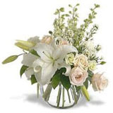 White Roses N Lilies In ..
