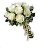 Bunch of Six White Rose