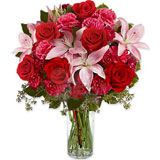 Carnations Lilies and Roses