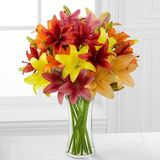 Colourburst Lily Bouquet
