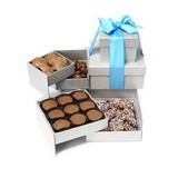 Deluxe Chocolate Silver Gift Tower