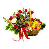 Flowers And Fresh Fruits