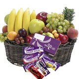Fruits and Cadbury basket!