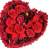 Red Roses In Heart Shape