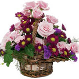Roses and Daisies Basket