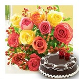 Say It With Choco Cake N Roses